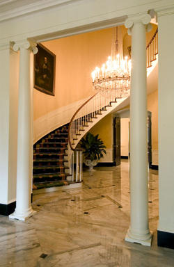 Governor's mansion staircase